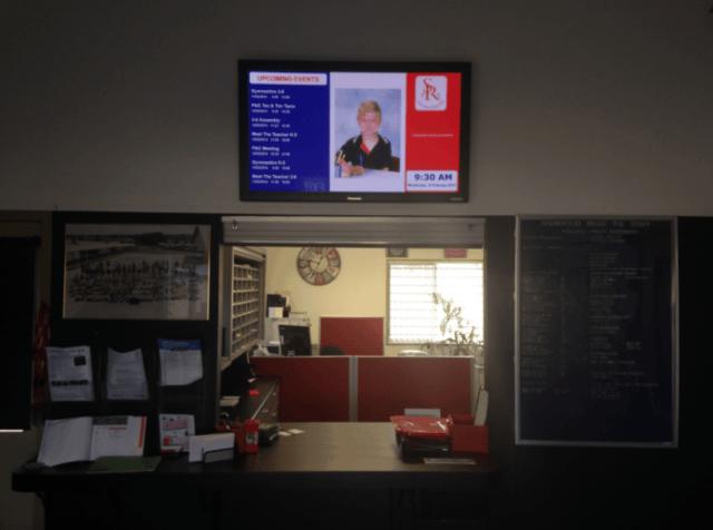 Digital Signage Integration with Sentral - Sherwood reception