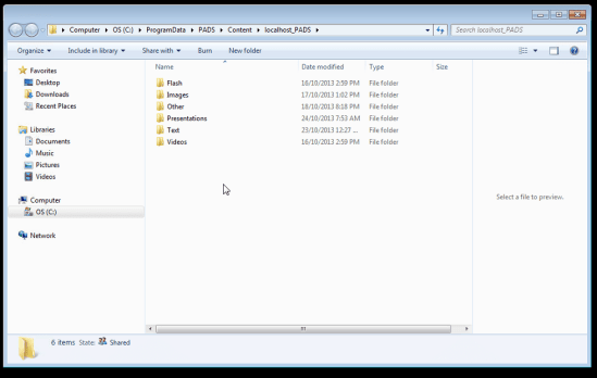 sherwood sentral integration - folder structure