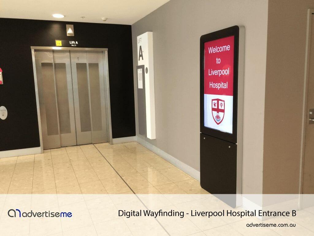 Digital Wayfinding Liverpool Hospital Entrance B