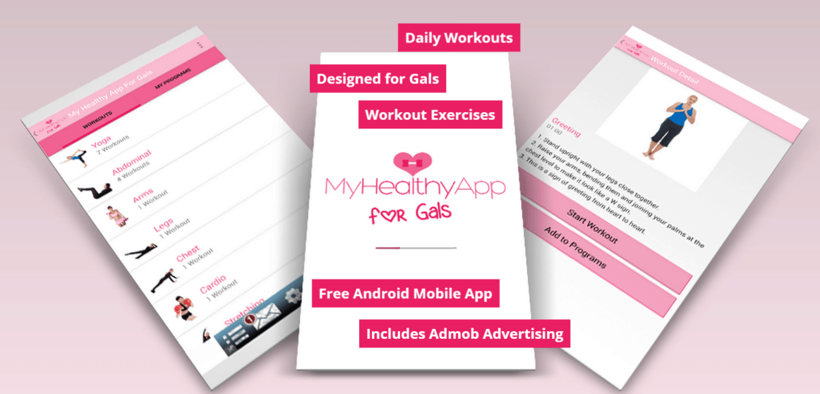 My Healthy App For Gals Mobile Application