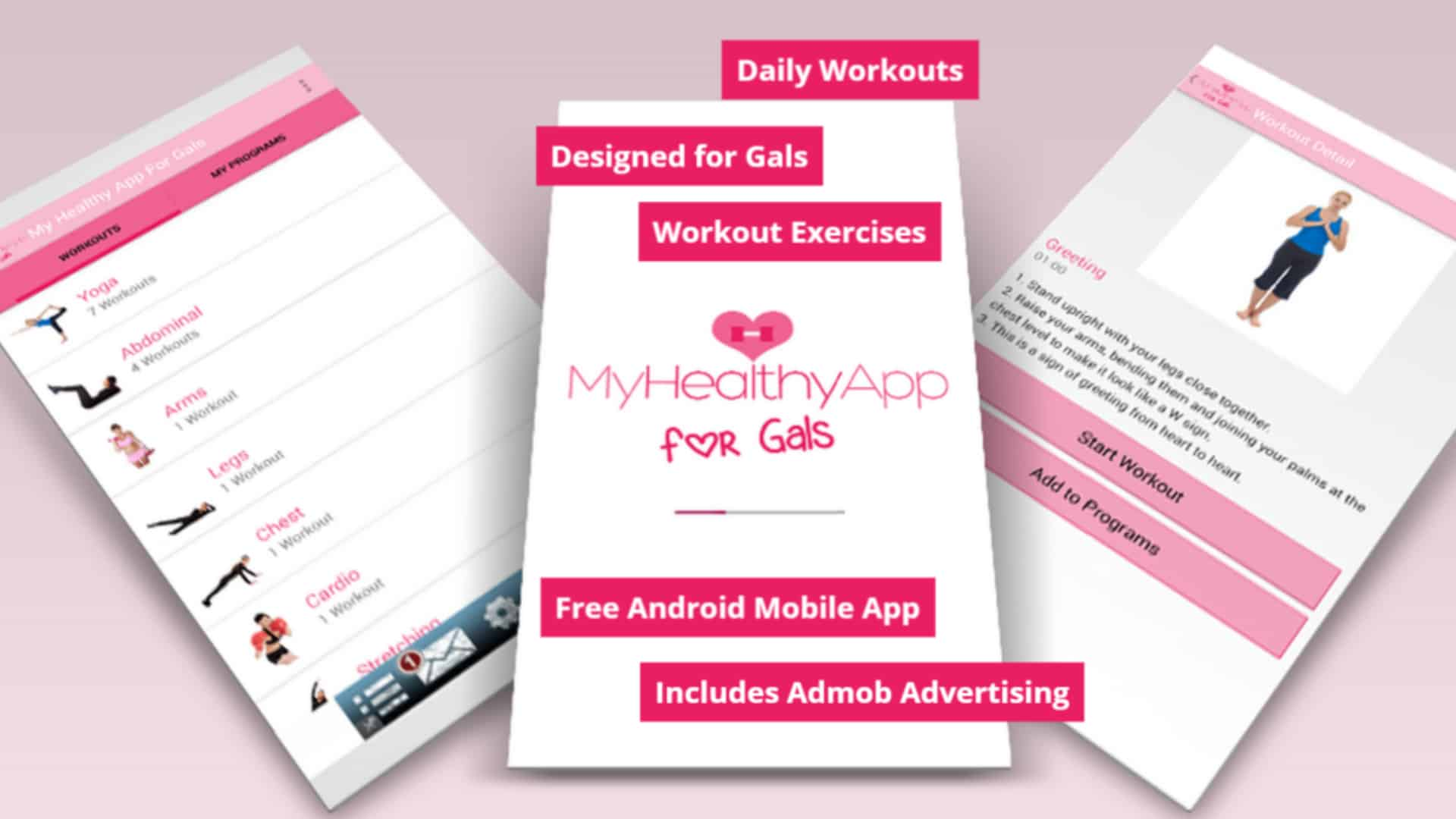 Mobile Application – My Healthy App For Gals