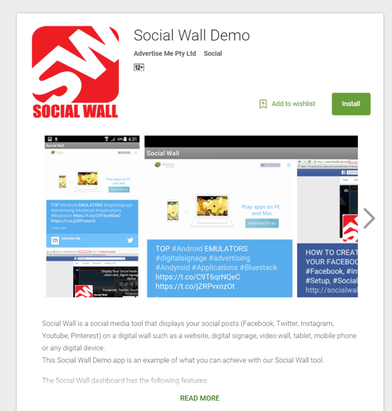 Social Wall Demo Android Apps Google Play