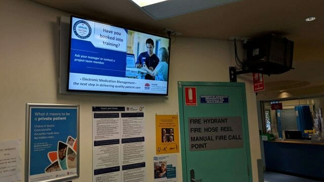 Advertise Me Digital Signage Bankstown Hospital Welcome Boards 1