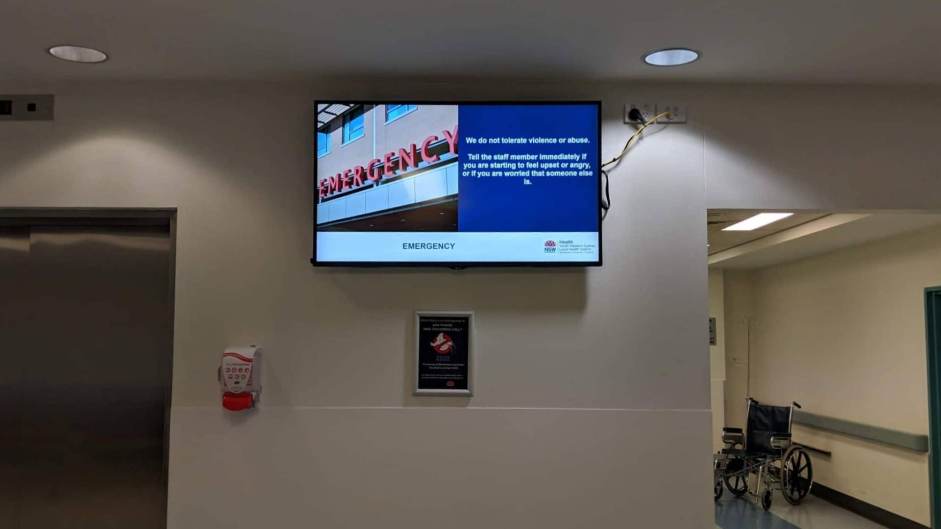 Advertise Me Digital Signage Bankstown Hospital Welcome Boards 7