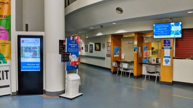 Advertise Me Digital Wayfinding Bankstown Hospital Main Entrance