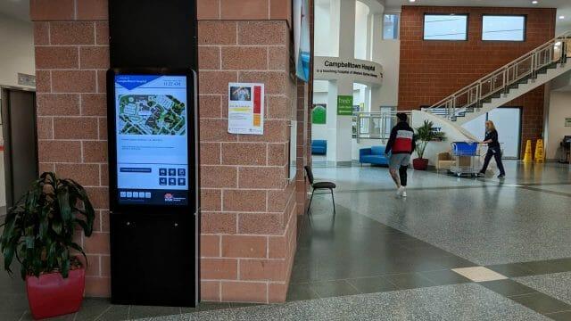 Advertise Me Digital Wayfinding Campbelltown Hospital Main Entrance 1