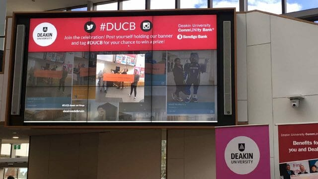 Advertise Me Social Wall Deakin University Events Header