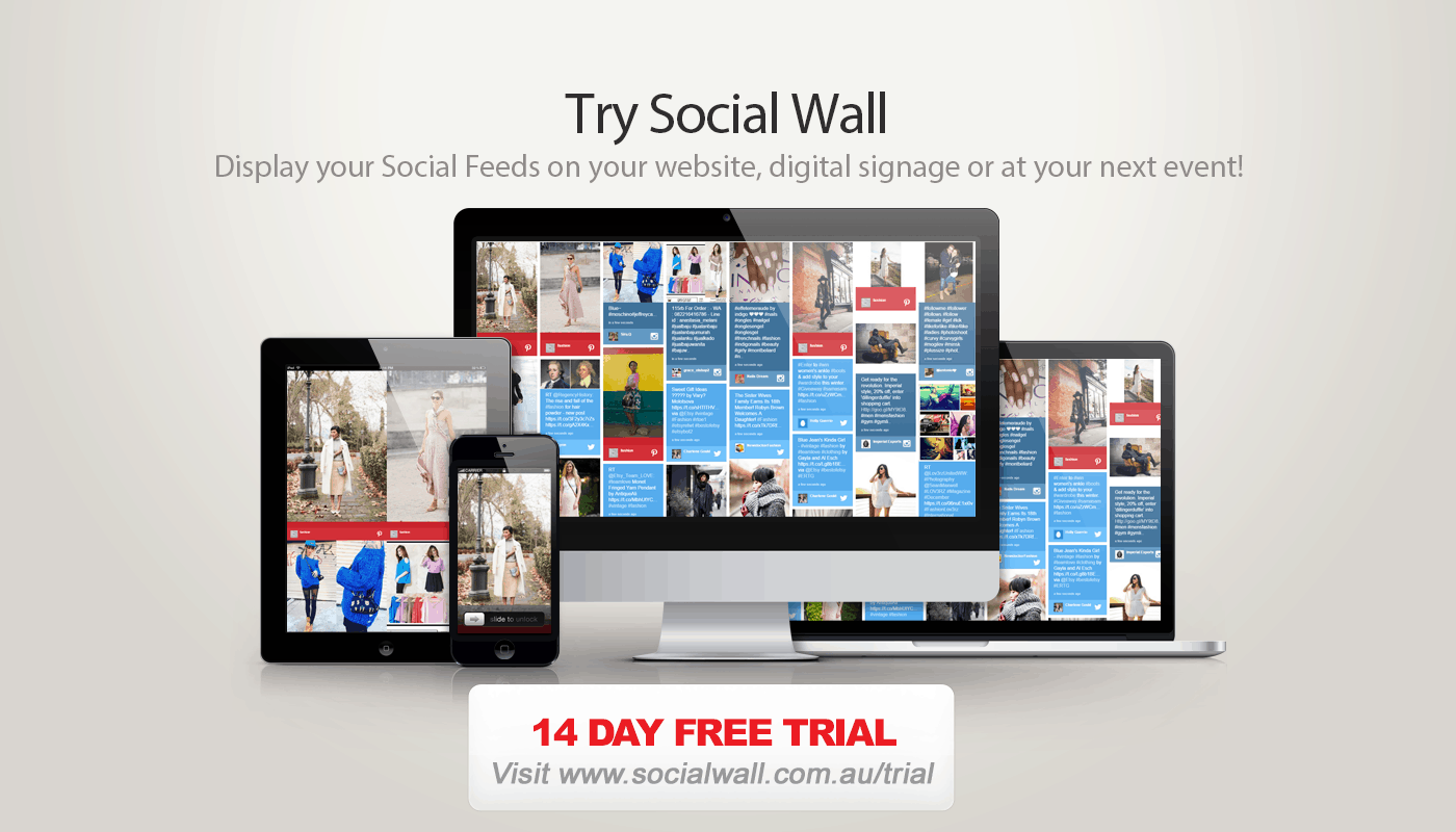 Advertise Me Social Wall Trial 1