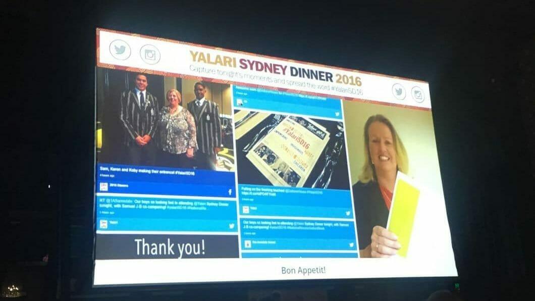 Advertise Me Social Wall Yalari Event Sydney e1566184877718