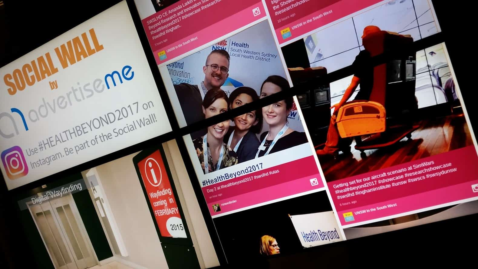 Video Wall & Social Wall – Ingham Institute Health and Beyond