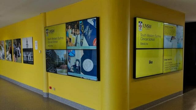 Video Wall & Social Wall – UNSW