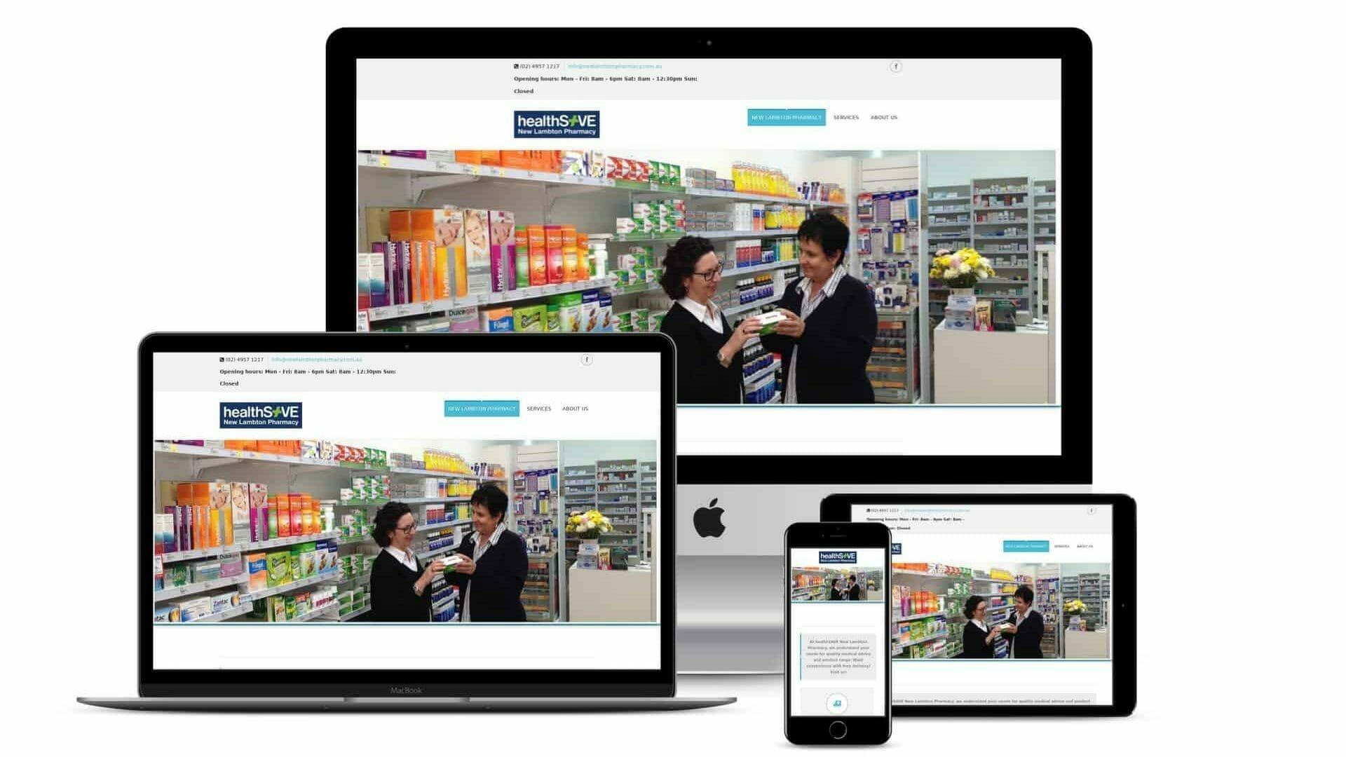 Website Development – New Lambton Pharmacy Website and Social Wall