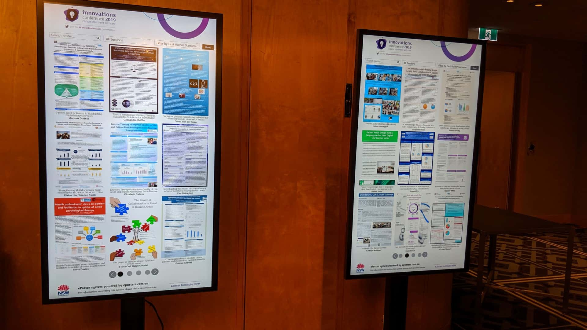 Advertise Me Interactive Digital Signage ePosters Cancer Institute NSW Conference 6