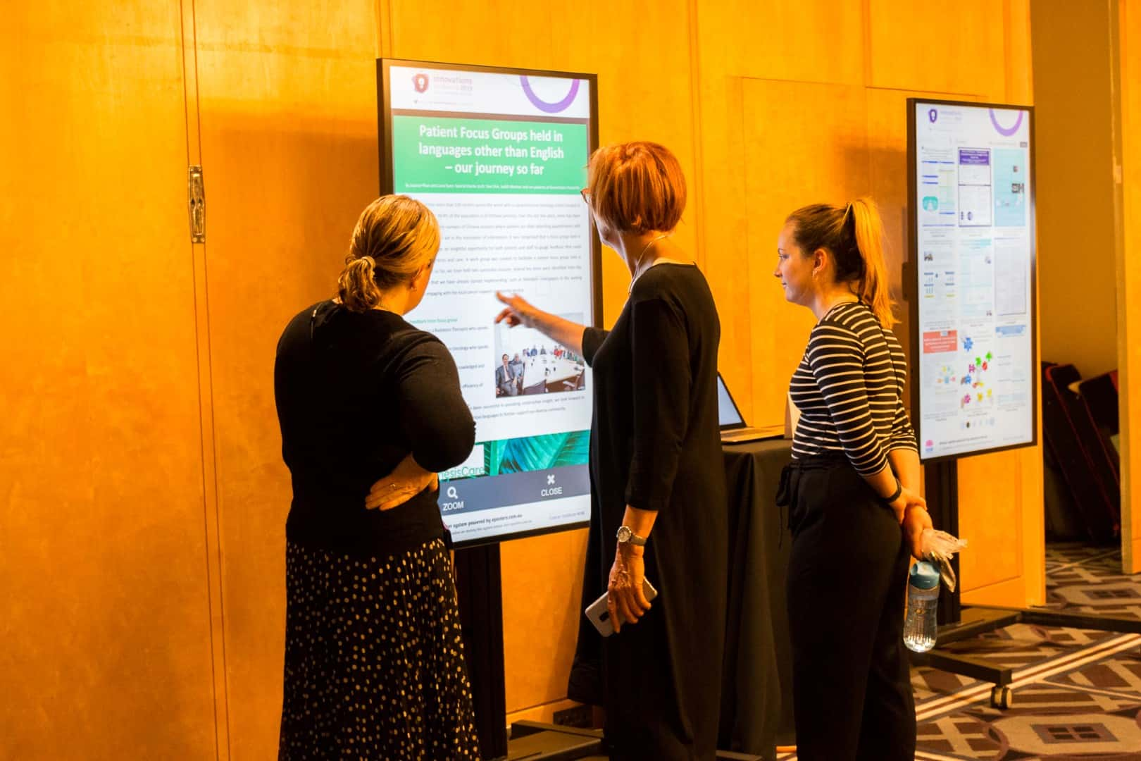 Interactive Digital Signage ePosters Cancer Institute NSW Innovations Conference 2019 4