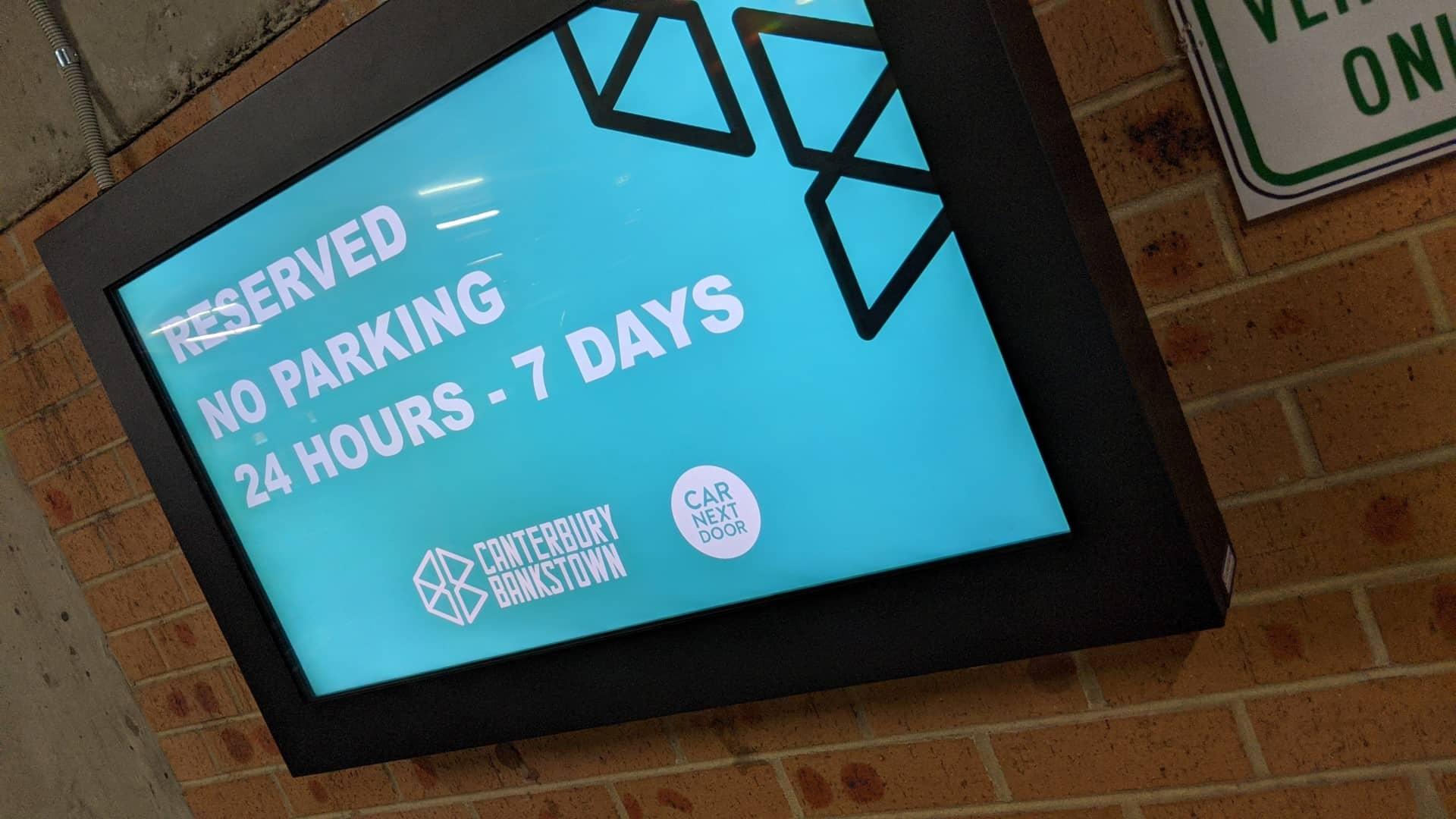 Digital Signage – City of Canterbury Bankstown Council Car Park