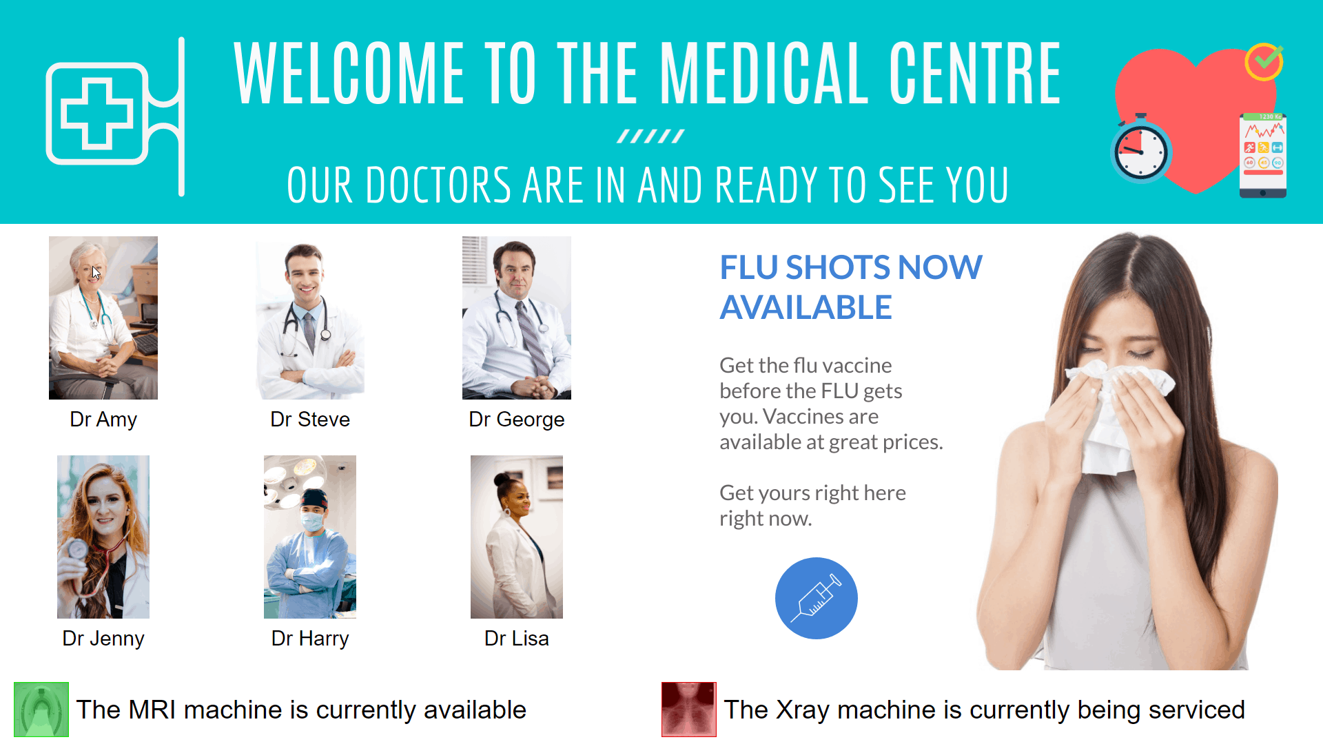 Advertise Me Digital Signage Staff Roster Module Hospital Medical Centre Staff Directory