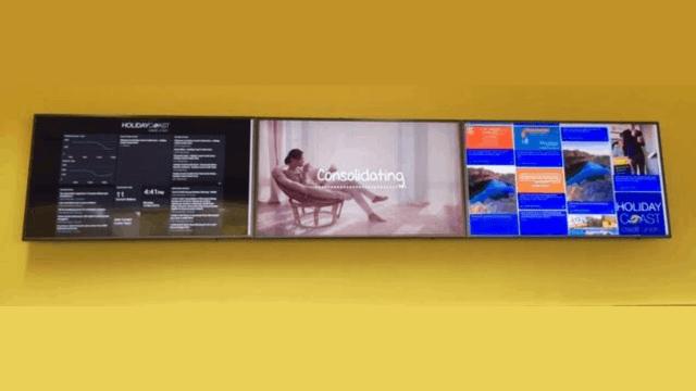 Advertise Me Social Wall Holiday Coast Credit Union Digital Signage Screen