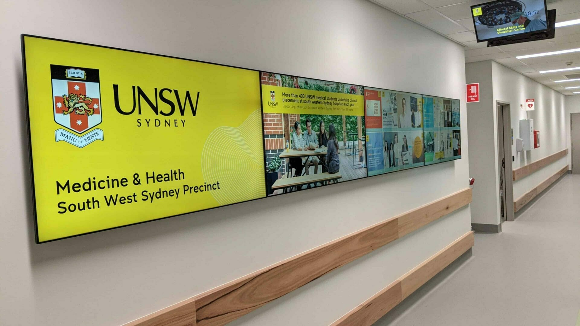 Advertise Me UNSW Medicine Health South West Sydney Precinct 4x1 Video Wall 1