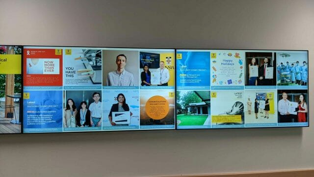 Advertise Me UNSW Medicine Health South West Sydney Precinct 4x1 Video Wall 2