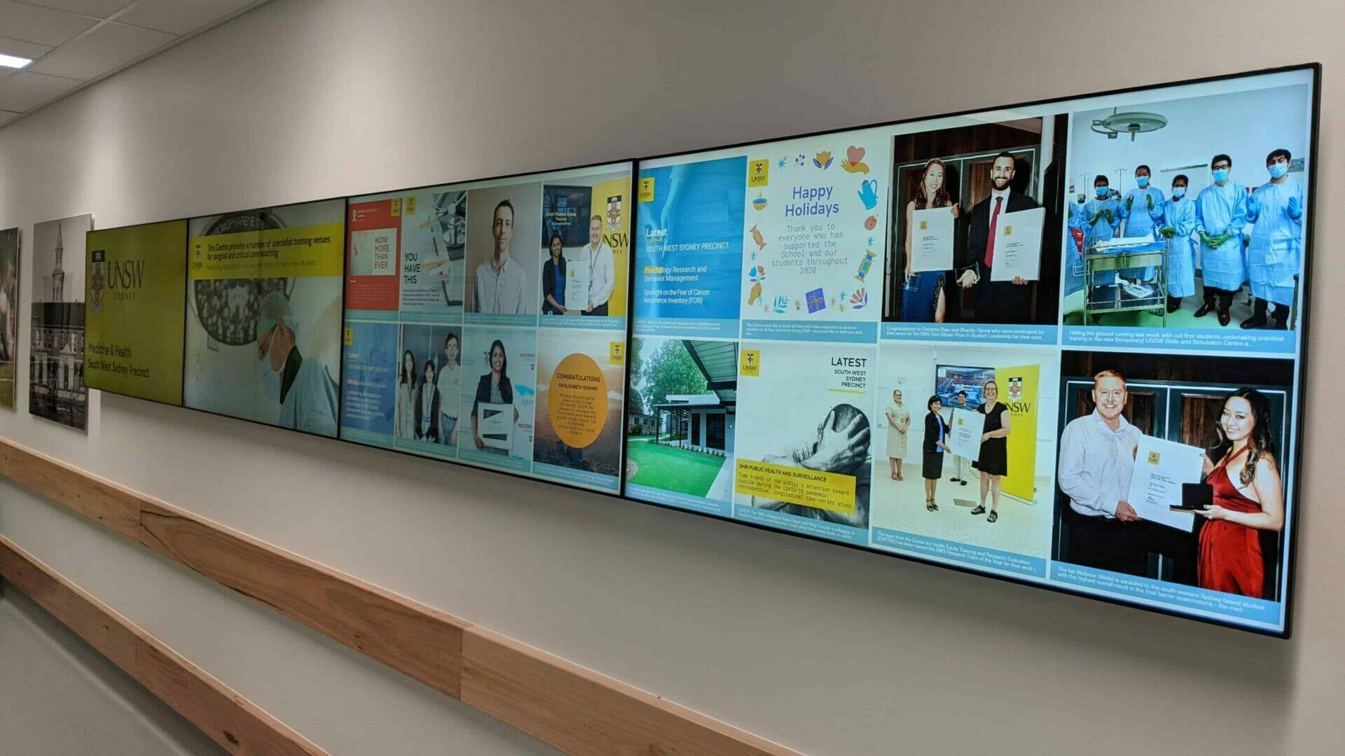 Video Wall & Social Wall – UNSW Medicine & Health South West Sydney Precinct 4×1 Video Wall