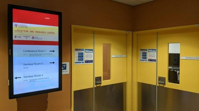 Digital Wayfinding – Liverpool Hospital Education and Research Centre