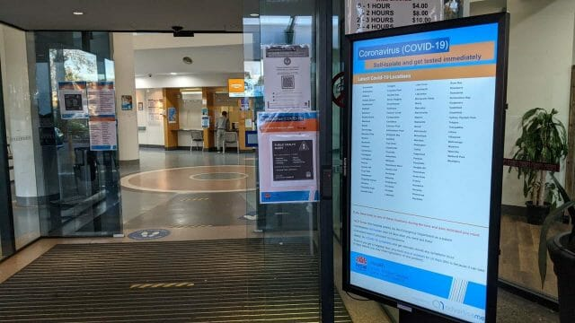 Digital Signage – Bankstown Hospital COVID-19 Portable Stands